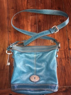 Handtasche von Fossil - petrolblau