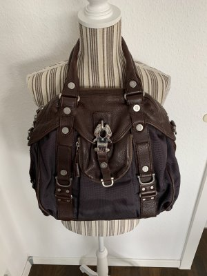 George Gina & Lucy Handbag dark brown-black brown leather