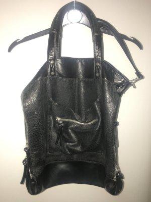 H&M Bolso barrel negro Imitación de cuero