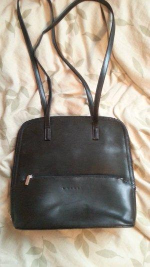 Handtasche von L.Credi, schwarz