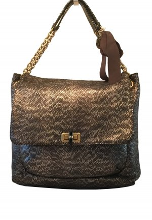 Handtasche von Lanvin - Bag Grand Happy Metallized Calf in Pythonoptik