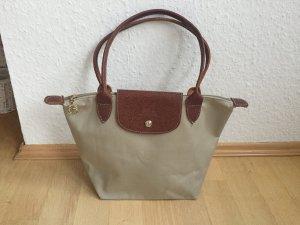 Handtasche von Longchamp, beige - hellgrün