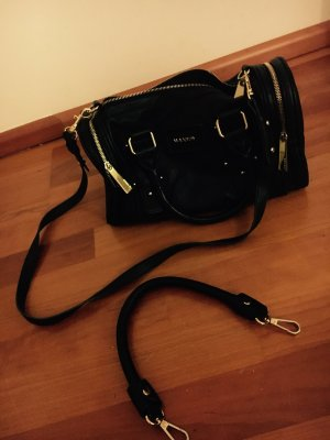 Handtasche von Mango in schwarz/gold