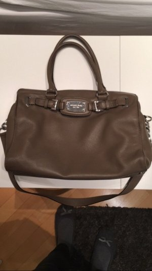 Michael Kors Carry Bag taupe-silver-colored leather