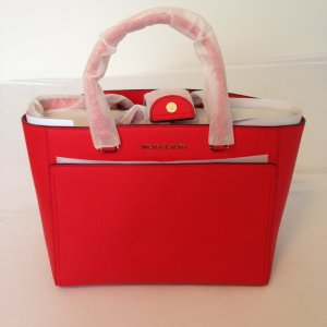 Michael Kors Shopper red leather