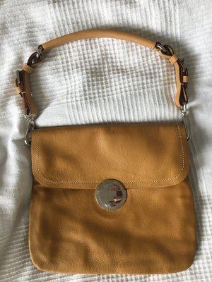 Prada Handbag camel-silver-colored leather