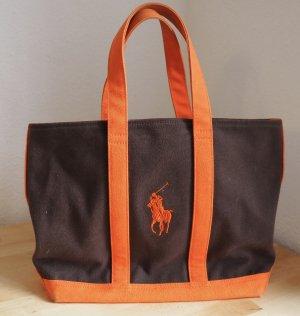 Handtasche von Ralph Lauren braun/orange