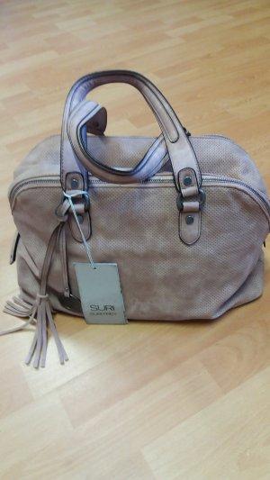 Handtasche von SURI FREY aus Veganleder in altrosa