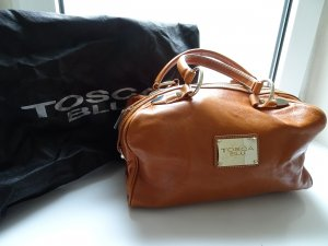 Tosca blu Bowling Bag cognac-coloured leather