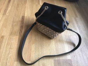 Zara Sac porté épaule noir-crème