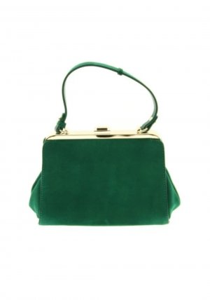 Zara Handbag gold-colored-forest green leather