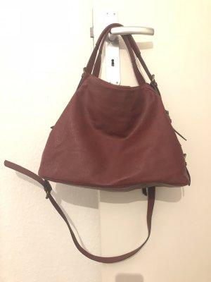 Handtasche - weinrot