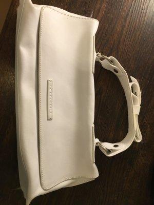 Handtasche, weißes Leder