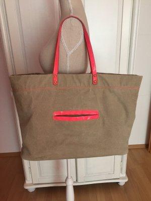 Handtasche XXL Neon pink Shopper