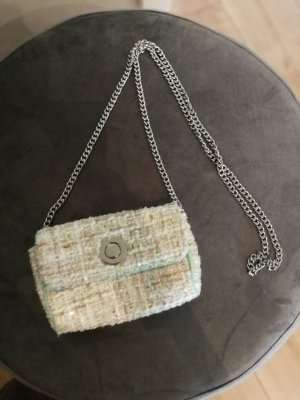 Zara Handbag natural white-sage green