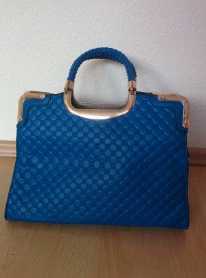 Handtasche Zara blau, gold
