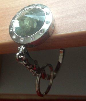 Porte-clés argenté-kaki