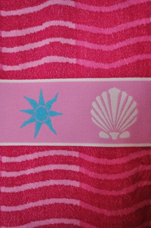 Handtuch / Badetuch mit Strandmuster