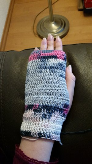 Fingerless Gloves multicolored cotton