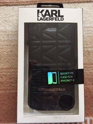 Karl Lagerfeld Custodia per cellulare nero-argento
