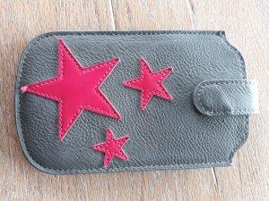 Tchibo / TCM Hoesje voor mobiele telefoons grijs-roze