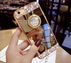 Étui pour téléphone portable doré