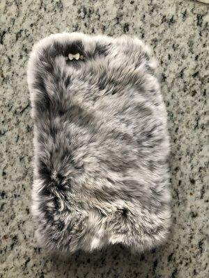 Handyhülle in echt Pelz grau für iPhone 6/6s