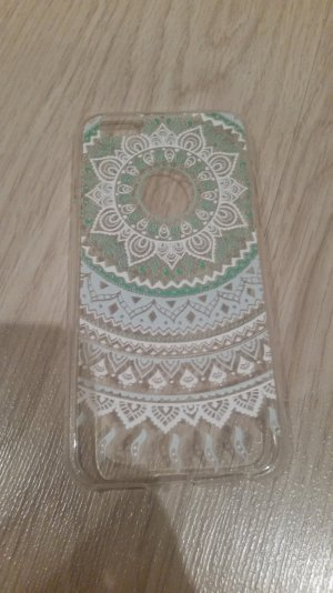 Carcasa para teléfono móvil blanco-turquesa