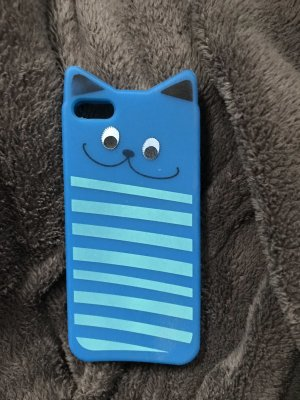 Étui pour téléphone portable bleu-turquoise