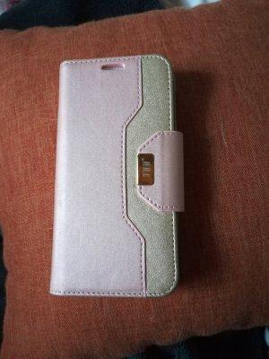 Carcasa para teléfono móvil color rosa dorado-rosa