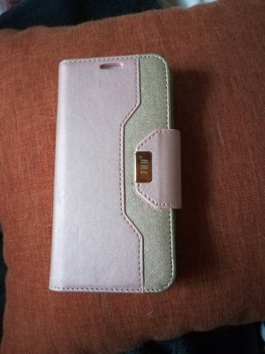 Étui pour téléphone portable or rose-rose