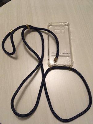 Étui pour téléphone portable doré-bleu foncé