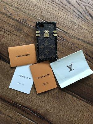 Louis Vuitton Custodia per cellulare marrone-nero