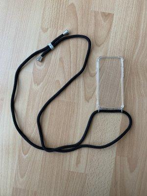 Étui pour téléphone portable noir-argenté