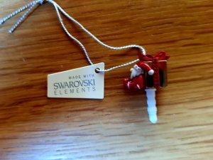Swarovski Bouton blanc-rouge foncé
