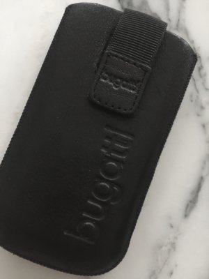 Bugatti Mobile Phone Case black leather