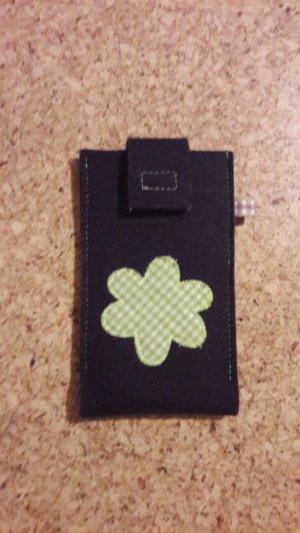 Étui pour téléphone portable brun pourpre-vert prairie