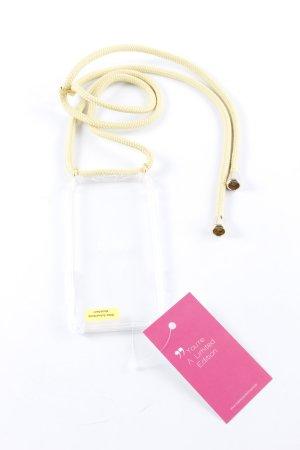 Handytasche limettengelb-goldfarben minimalistischer Stil