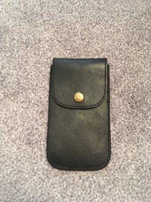 Pieces Étui pour téléphone portable noir cuir