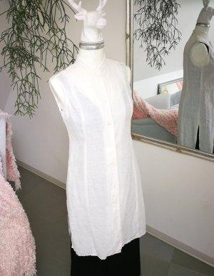 Madness Gilet long tricoté blanc lin