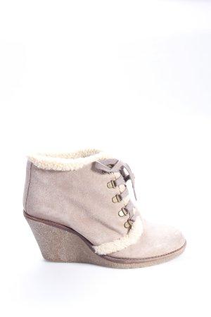 Hanna White Ankle Boots mit Plüschfutter