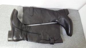 Hanna White Botas estilo militar negro Cuero