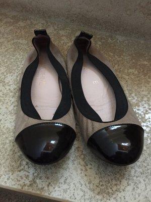 Hanna White Leder Ballerinas 36