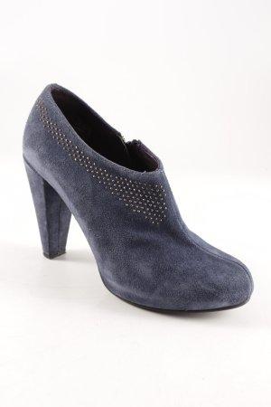 Hanna White Reißverschluss-Stiefeletten stahlblau Elegant