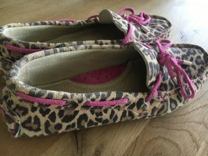 HANNA WHITE°Schönste Loafers°Leo Print°Wildleder°beige/ braun mit pinken Details°38°gepflegter Zustand