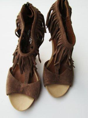 Hanna White Schuhe Fransen