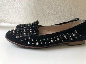 Hanna White slippers ballerinas Nieten slip on