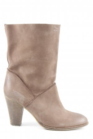 Hanna White Western Booties light brown country style
