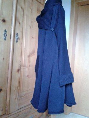 Veste en laine bleu foncé laine mérinos