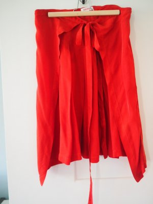 Jupe portefeuille rouge cupro
